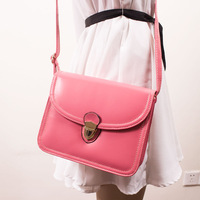 new 2014 candy color women handbag  female shoulder bag women leather handbags cross-body women messenger bags