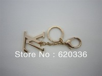 Min order $25(mix order) Free shipping fashion letter key chain.two color option,bag accessories,hot sale kinds
