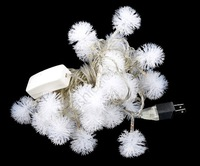 2013 New 5M 28 Fuzzy Ball String Fairy Cristmas LED Light Christmas Xmas holiday Party Decoration 100-220V US Plug TK1343