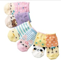 Mini order 24 pairs Free Shipping 0-3T panda cat cartoon kid Children's Non-Slip Socks Baby Girls Cotton sock [Wholesale]