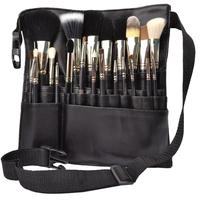Professional makeup Animal hair Wool Cosmetic brush set 15pcs cosmetic brush and PU waist pack makeup brush bag tools