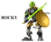 Decool Hero factory5.0 ROCKY building block toy boys gift enlighten toy