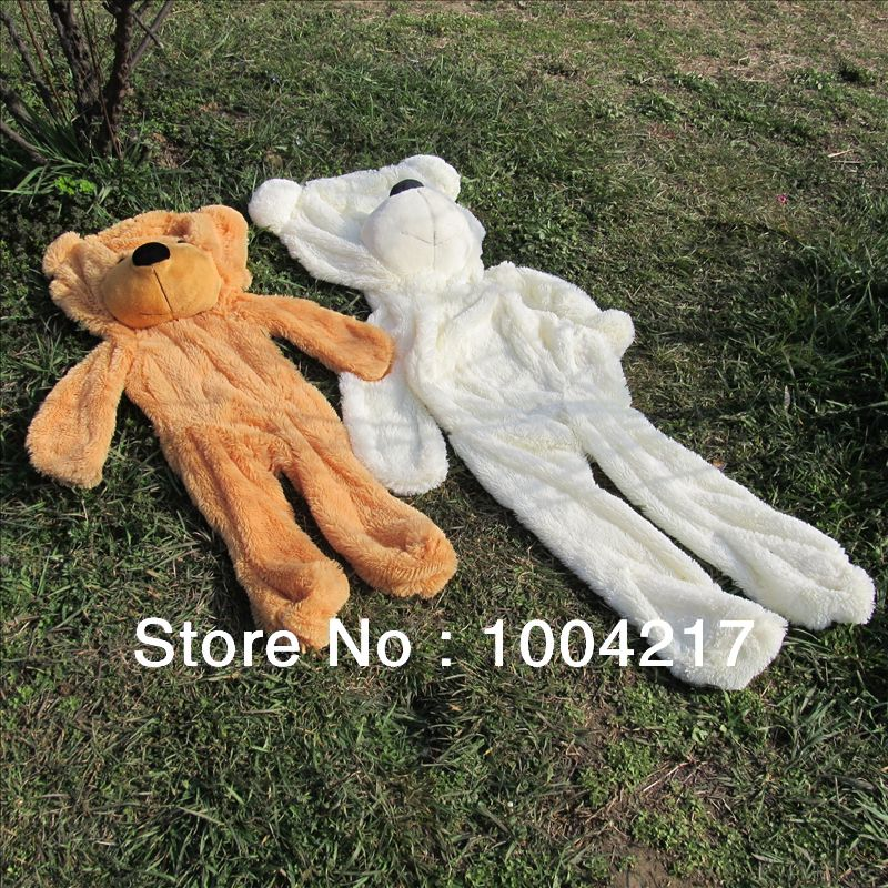 Wholesale Factory price! 3colors Empty 80cm-200cm Oversized plush toys teddy bear toys skin Stuffed Animals Free shipping(China (Mainland))