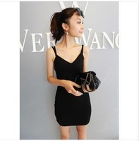 2013 Free shipping new sexy V-Neck Bodycon Slimming Fitted Above Knee Dress