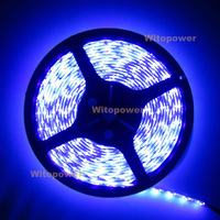 free shipping 16.4ft 5M UV 395nm 3528 SMD Purple 300 LED Flex Strip Light Waterproof 12V