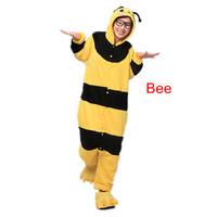 The new hot  Coral velvet pajamas cartoon animal piece pajamas  Autumn and winter cute Bee sleepwear