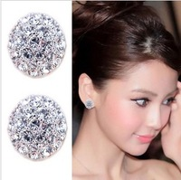Bridal accessories circle earrings fashion earrings invisible female stud earring