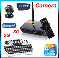 CS968 Quad Core RK3188 Android 4.2 Bluetooth 4.0 XBMC RJ45 TV Box 2.0MP Camera MicoPhone 2GB RAM 8GB +Rii mini i8 Fly Air Mouse