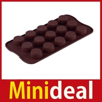 rising stars [MiniDeal] Chocolate Cake Cookie Muffin Jelly Baking Silicone Bakeware Mould Mold Tool #02 Hot hot promotion!