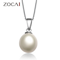 ZOCAI BRAND 925 STERLING SILVER 7-8MM FRESHWATER PEARL PENDANT D0001