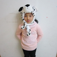 Hot sale promotion price children's hat lovely dot dog shaped  winter warm kidsCap Free shipping for 4-8age