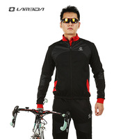 Set long-sleeve ride service set compound fleece autumn and winter windproof thermal Men