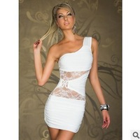 European and American models sexy package hip nightclub dance double lace dress!