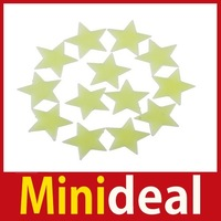 rising stars [MiniDeal] 35Pcs Glow In The Dark Plastic Stars Stickers Ceiling Wall Room Christmas Decor Hot hot promotion!