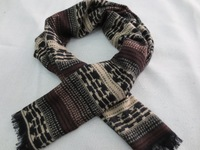 Fashion Winter Autumn Men Geometric Coffee Scarf Thick Long Scarves Shawl Wom For Men 2013 New Arrial