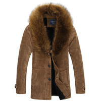 Free shipping !!! Authentic winter men's fashion casual thick mink collar ovo weatherization cotton jacket coat / M-XXL