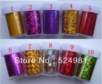 Wholes 20 styles star nail sticker 120CM*4CM  Free shipping