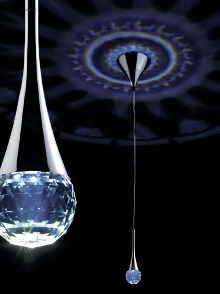 Spedizione gratuita nuovo ha portato luce del pendente ciondolo di cristallo di moda si accende il led di cristallo moderna illuminazione bianca, bianco caldo