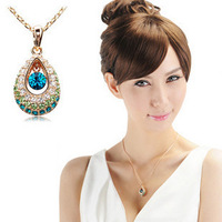 Min. order is $15 (mix order) women's fashion  angels tears crystal   pendant necklace