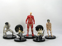 New Arrival Boxed 9CM  Attack on Titan Action Figures 5PCS/Set  Shingeki no Kyojin Figures PVC Toys  Collection Free Shipping
