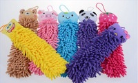 8pcs/lot big one Polyester chenille microfiber lovely animal cleaning towel, cartoon towels, mixed design