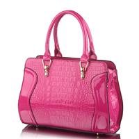 FREE SHIPPING! 2013 hotsae fashion design high-shine women leather handbag printing shoulder bag women messenger bag leather bag