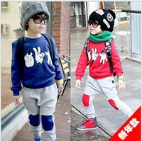 Autumn with pure cotton han edition of small and medium-sized new children sport suit children suit 13 years