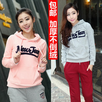 2013 female letter sports sweatshirt pocket hat shirt thickening fleece outerwear sweatshirt