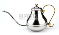 Kitchen supplies stainless steel teapot coffee pot royal pot electromagnetic furnace 1.0l