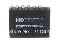 YPBPR+CVBS+S-VIDEO+R/L AUDIO To HDMI+STEREO AUDIO Converter
