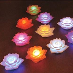 Colorful small night light lotus wishing lotus lamp gift lamp electronic night light(China (Mainland))