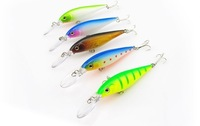 Free Shipping Super Quality Mix 5 Colors Hard Bait Minnow Fishing lures Bass Fresh Salt water