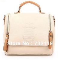 HOT! 2013 autumn fashion preppy style stamp one shoulder handbag messenger bag women's handbag casual free shippingQ3066