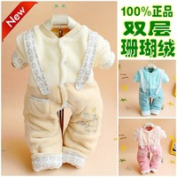 2013 Autumn baby Romper baby coveralls  baby bodysuits  for winter cotton padded one piece pajamas cheap baby clothes wholesale