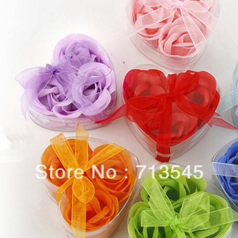 3 PCS Bath Body Heart Rose Petal W