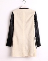 New Arrival Winter New European and American Women Leather Jacket Long-sleeved Woolen Coat S,M,L A2995