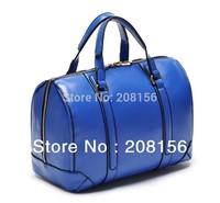 Original brand new tags Za** blue bowling  bag fashion PU handbags cheap qualtiy briefcase bags wholesale retail free shipping