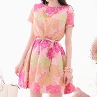 women's casual dress luxury summer sweet print dress