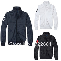 2014 Autumn Handsome Men classic original Polo Activel casual Polo jacket long sleeve windproof Jacket free shipping men's Coat
