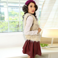 2013 women's fox fur vest outerwear fashionable casual all-match short fur design