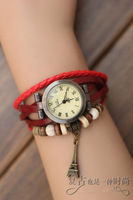 Genuine leather vintage watch male wrap bracelet student table hot-selling
