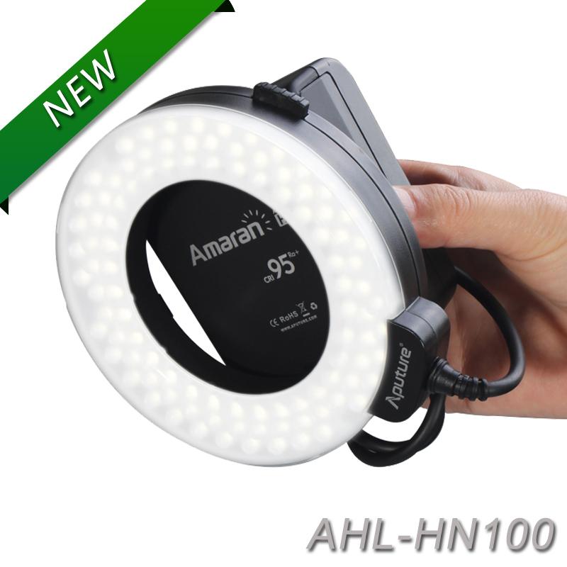 Aputure HN100 CRI 95+ Amaran Halo LED Ring Flash light For Nikon D7100 D7000 D5200 D510