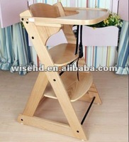 wooden baby eating chair