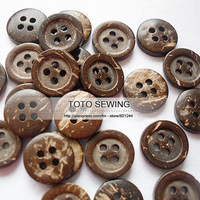 Min.order is $12 (mix order),dark brown natural 4 holes round sewing coconut button,size12*12MM,100pcs/lot,T2019457,freeshipping