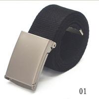 Hot Sale Candy Color Mens Womens Unisex Plain Webbing Cotton Canvas Metal Buckle Belt WF-Belt-0350