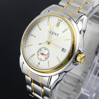 FLENT 8081 Fashion automatic Mechanical men's watch business Watches with Calendar and separate SECOND hand dial stainless steel