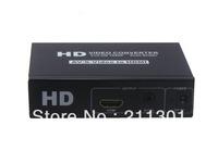 Free shipping AV CVBS Or S-Video + R/L To HDMI+3.5mm Audio Converter