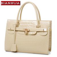 2013 fashion crocodile pattern handbag messenger bag women's bags