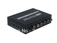 Free shipping  Mute function YPBPR+CVBS+S-VIDEO+R/L AUDIO To HDMI+VGA+STEREO AUDIO converter