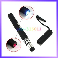 4 in 1 Flashlight + Laser Pointer + Anti Dust Plug + Touch Screen Pen for iPad iPhone Samsung Tablet Smart Phone